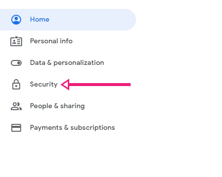 Go to your Gmail security settings page