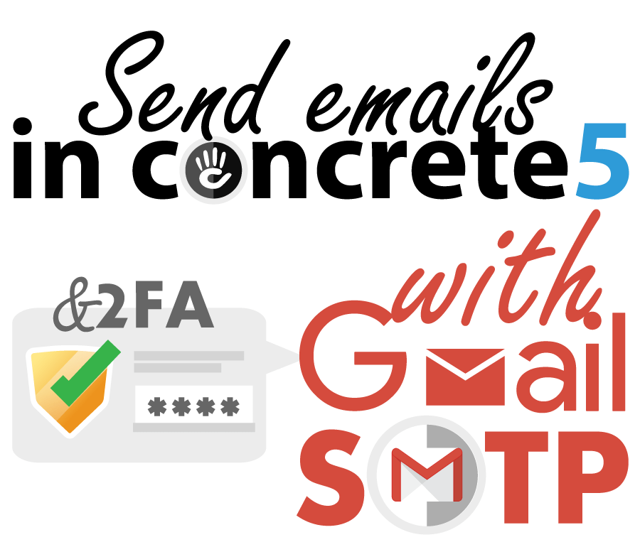 Send emails in concrete5 with Gmail SMTP server & 2FA