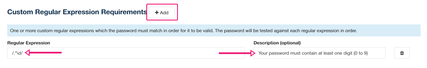 use a regular expression to add more password rules in concrete5