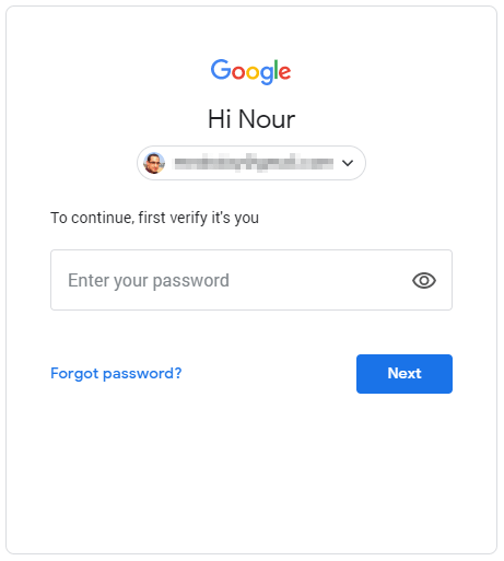 Confirm your Gmail password